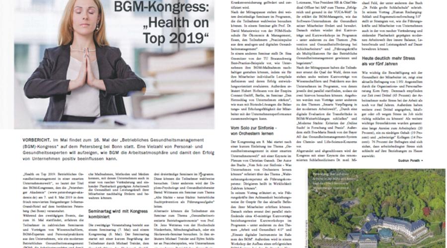 BGM Kongress Health on Top